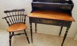 $500 OBO 1950?s Charming Ethan Allen maple & ebony Desk &