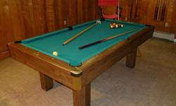 $500 OBO Bruswick Buckingham pool table