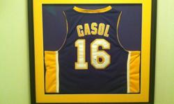 $500 Pau Gasol autograph Lakers jersey custom lakers framed