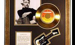 $50 Bob Dylan Giclee with Gold Record