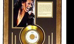 $50 Cristina Aguilera Giclee with Gold Record