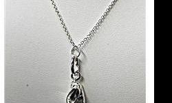 $50 Dazzling Ladies 18k White Gold Ballet Shoes Necklace