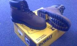 $50 DeWalt Work Boots NEW IN BOX brown OR wheat Sizes 9,