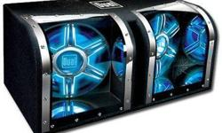 $50 duel two 12inch subs flashes blue (stafford)