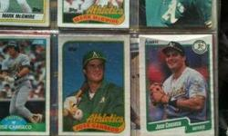$50 Early 90's MLB Cards Nolan Ryan, McGwire, Canseco, ect
