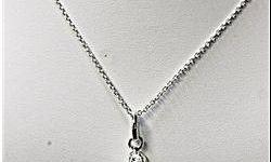 $50 Fancy Ladies 18k White Gold Necklace with Ballet Shoes