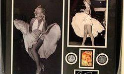 $50 Framed Authographed Marilyn Monroe Collage