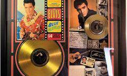 $50 Framed Elvis Gold Record Collage
