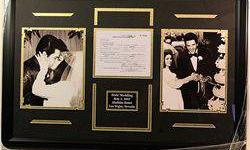 $50 Framed Elvis Presley Marriage Collage with Marriage