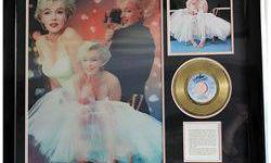 $50 Framed Marilyn Monroe Gold Record