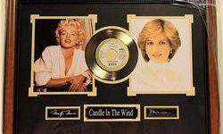 $50 Framed Marilyn Monroe & Princess Diana with Elton John