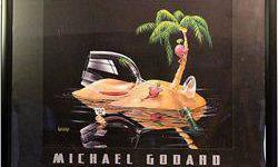 "$50 Framed Michael Godard ""Lost in Paradise"""