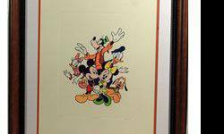 $50 Framed Mickey Mouse & The Gang Sericel