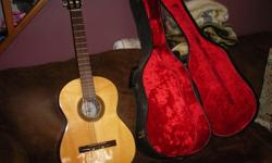 "$50 Kent guitar ""Iberia"" classical with case"