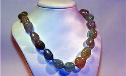 "$50 Lady's Very Fancy ""All Natural Stones"" Cream Jade &"