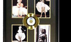 $50 Marilyn Monroe four Giclees with Gold Record