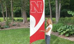 $50 Nebraska Tall Team Flag