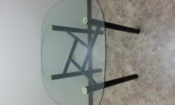 $50 OBO Glass Table