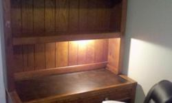 $50 OBO Wooden Desk and Shelving