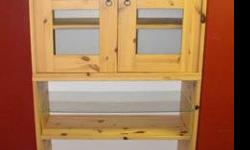 $50 Pine Wood Two-Piece Kitchen Hutch - Modern