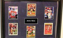 $50 Rare Framed Jerry Rice Player Trading Cards