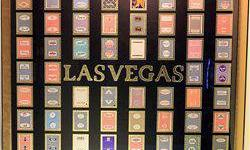 $50 Rare Framed Las Vegas Casino Playing Cards Collage