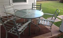 $50 Round Lanai Table with Chairs (patio table)