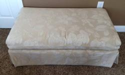 $50 Storage Ottoman -- Fabric, Tan Tone-on-Tone colors