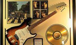 $50 The Beatles Autograph Guitar & Gold Record Collage