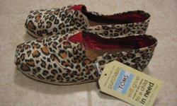 $50 Toms Shoes - Womens - 7-1/2 - Leopard Print