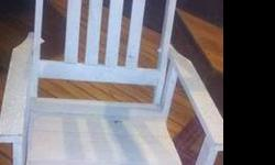 $50 White Rocking Chairs