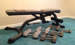 $510 Exercise bench with weights