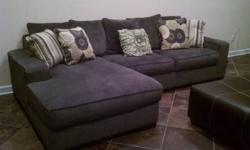 $525 Sectional with Chaise Ashley Pewter - Very NEW!