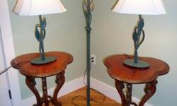 $550 Hubbardton Forge Table Lamps and Floor Lamp, Forged