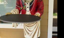 $550 Larger Than Life 6 Foot Handcrafted Resin Butler