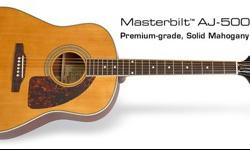$550 Masterbilt AJ-500 M Acoustic Guitar with Epiphone HSC