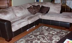 $550 Micro-Fiber Sectional sofa with Chaise and Oversized