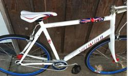 "$550 OBO ""London""-themed bicycle...perfect to have for this"