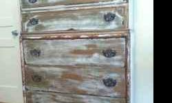 $550 Vintage/Antique Hand Painted Dresser