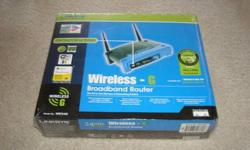$55 Linksys WRT54G Wireless-G Router NEW