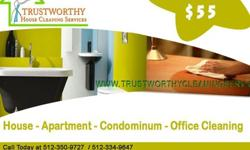 $55 Quality, Professional, & Affordable Home Cleaning ! Call