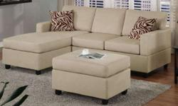 $570 Mini Sectional Includes Ottoman