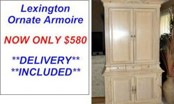 $580 Stunning Ornate Solid Wood TV Armoire by Lexington