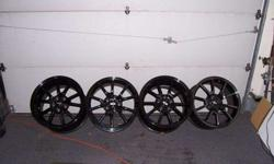 $599 Mustang Black Chrome Wheels (Boise)
