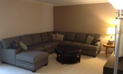 $5,000 3 pc sectional sofa top quality custom made