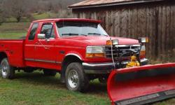 $5,000 96 Ford F250 Diesel Xcab 4x4 Plow and Utility Bed -