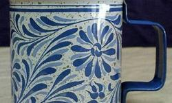 $5 Avon Blue & White Floral Country Tin Talc Shaker