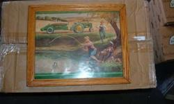 $5 John Deer Framed W. H. Hinton's Print called Turtle