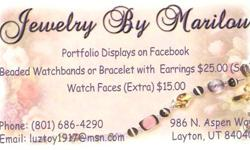 $5 Lots of beaded jewelry - earrings, watchbands, lanyards,