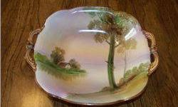 "$5 Nippon 7"" Bowl W/Country Scene"